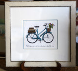 Bicycle print and saying - SOLD