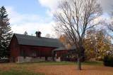 Red barn with cupola near Aurora