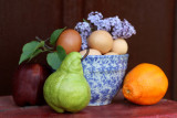 fruit eggs bowl