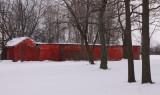 long red chicken coop