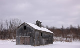wooden barn with cupola