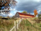 rusty red barn....