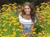 rachel in the flowers...