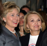 Senator Clinton with California Grassroots Chapter President...