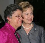 Senator Clinton with Marilyn Bero...