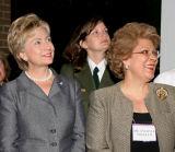 Senator Clinton with Dr. Antonia C. Novello...