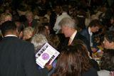 President Clinton enjoying the crowd...