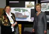 Executor Director Billie Luisi-Potts with Senator Clinton...