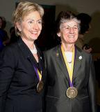 Senator Clinton and Rita Rossi Colwell