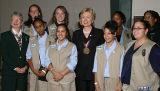 GSA local troup with Senator Clinton