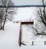 snow white pier at cayuga lake..