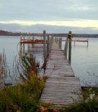 old dock on cayuga lake...