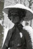 auntie amelia.... in the snow