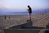 On the wall, Mission Beach, San Diego, California, 2010