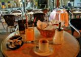 Early morning breakfast at Le Deux Garçons