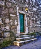 The tower door