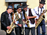 Jazzmen in black