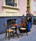 Side-walk café...