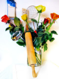 The kitchen chef's roses....