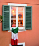 The patriotic Italian window...