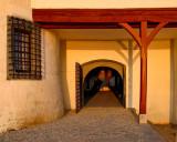 Entering the castle gate...