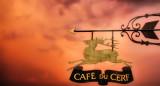 Café sign sunset