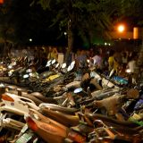 A Sea of Motorcycles