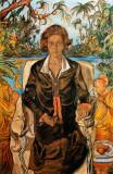 Jadwiga Witkiewiczowa - portrait, 1925, pastel