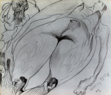 1928, pencil on paper