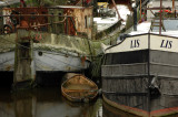 Canalboats in Groningen