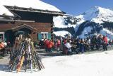 Kleinwalsertal Österreich Winterwanderung Höhenweg Fuchsfarm nach Baad  (4.2.2006)