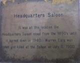 HQ Saloon - Marker (Warren Earp)