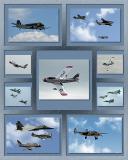 Heritage flight collage