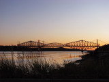 les ponts de Québec à la brunante