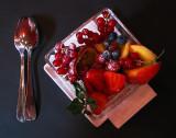 dessert aux petits fruits