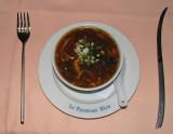 soupe au paravent bleu