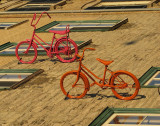 les vélos de la façade