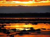coucher de soleil dans le bas du fleuve