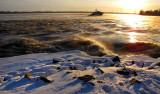 Soleil couchant sur le Saint-Laurent