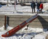 descente de canot à glace