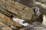 discussion sur les rochers