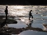 marcher sur l'eau, facile...