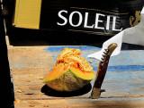Melon et Laguiole au soleil , Marché d'Éauze