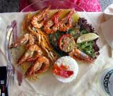 L'assiette de crevettes