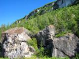 les rochers d'éboulements