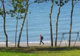 la marche sur la plage