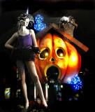 Décor d'Halloween , rue St-Denis