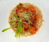 Nouilles de riz aux crevettes