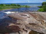 La chute Sault-aux-moutons et la petite baie