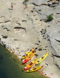Kayaks sur l'Ardèche